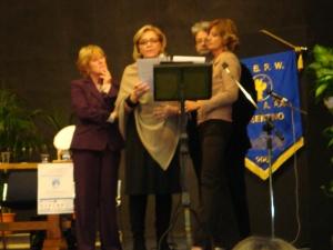 L'intervento di J. Stradaioli durante la premiazione