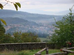 Panorama di Stia e, sullo sfondo, Pratovecchio (Arezzo)