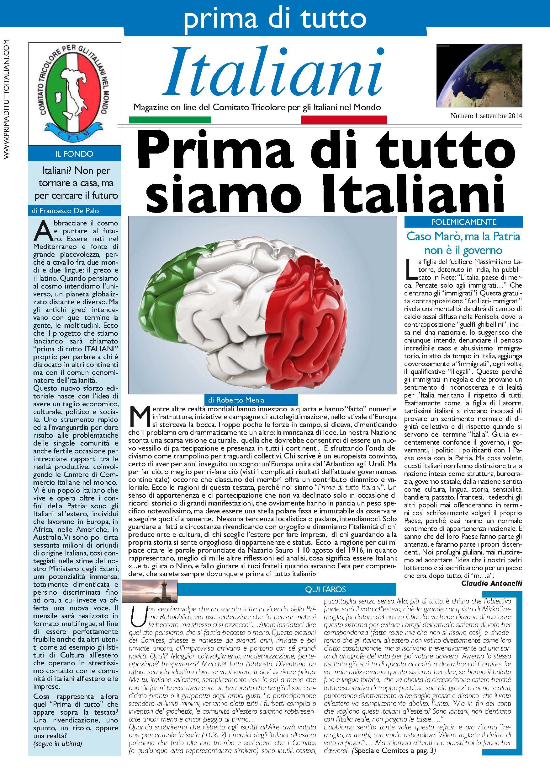 Sul nuovo numero di prima di tutto italiani 100 grazie e for Numero deputati e senatori italiani