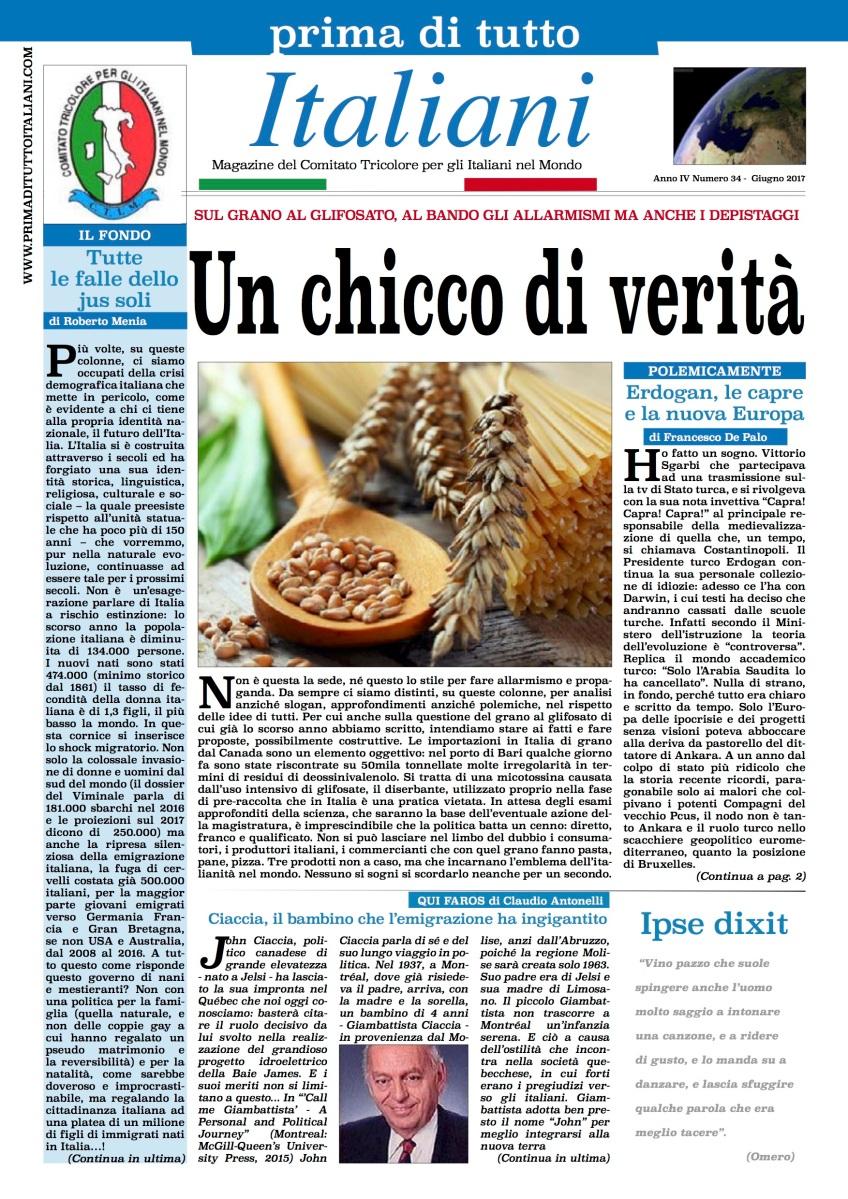Prima di tutto italiani sul nuovo numero grano al for Numero deputati e senatori italiani