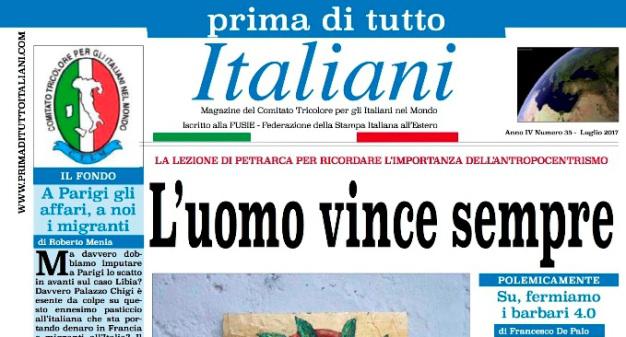 SUL NUOVO NUMERO DI PRIMA DI TUTTO ITALIANI: L'UOMO VINCESEMPRE
